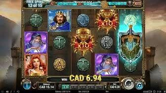 The Sword and the Grail Bonus Round Low Bet Mega Win - Online Casino Real Money