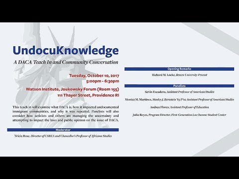 UndocuKnowledge: A DACA Teach-In and Community Conversation