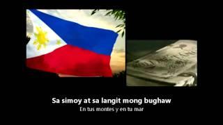 [HD] Philippine National Anthem - Lupang Hinirang - Filipino y Español Lyrics