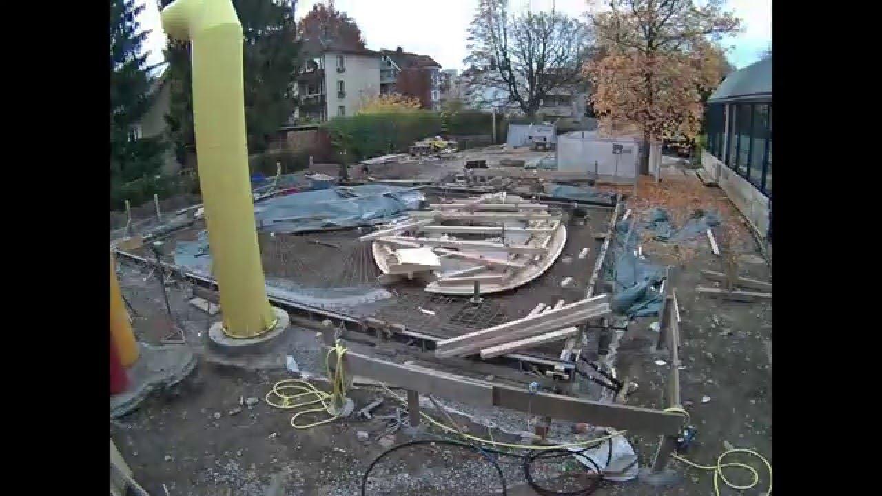 Bau Kinder Planschbecken Hallenbad Altstetten - YouTube