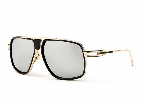 da5c06b047a Aevogue silver mirror finish polarized gold frame men s vintage sunglasses