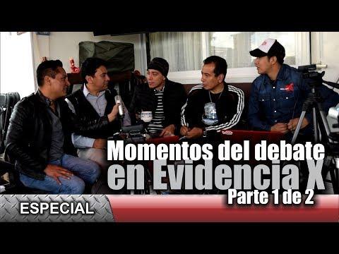 Los mejores momentos del debate en Evidencia X