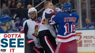 GOTTA SEE IT: Senators & Rangers Scrap Multiple Times In First Period