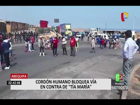 Moquegua: darán paso libre de vehículos por 72 horas tras firma de acuerdo
