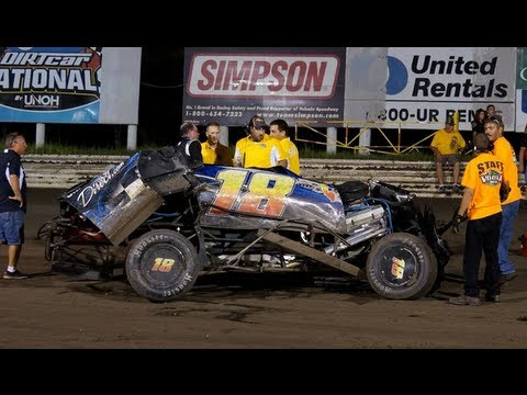 Modified Crash at Volusia Speedway Park, 7-27-2013