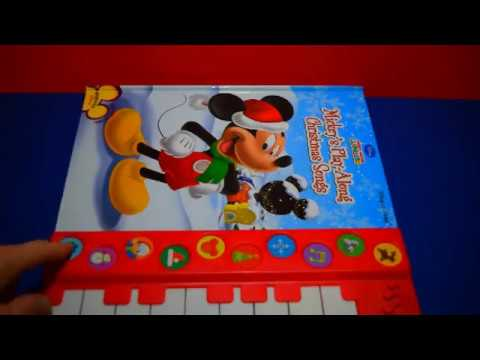 MICKEY'S PLAY-A-LONG CHRISTMAS SONGS PLAY-A-SONG PIANO SOUND BOOKS FUN TOYS MICKEY'S CLUBHOUSE KIDS
