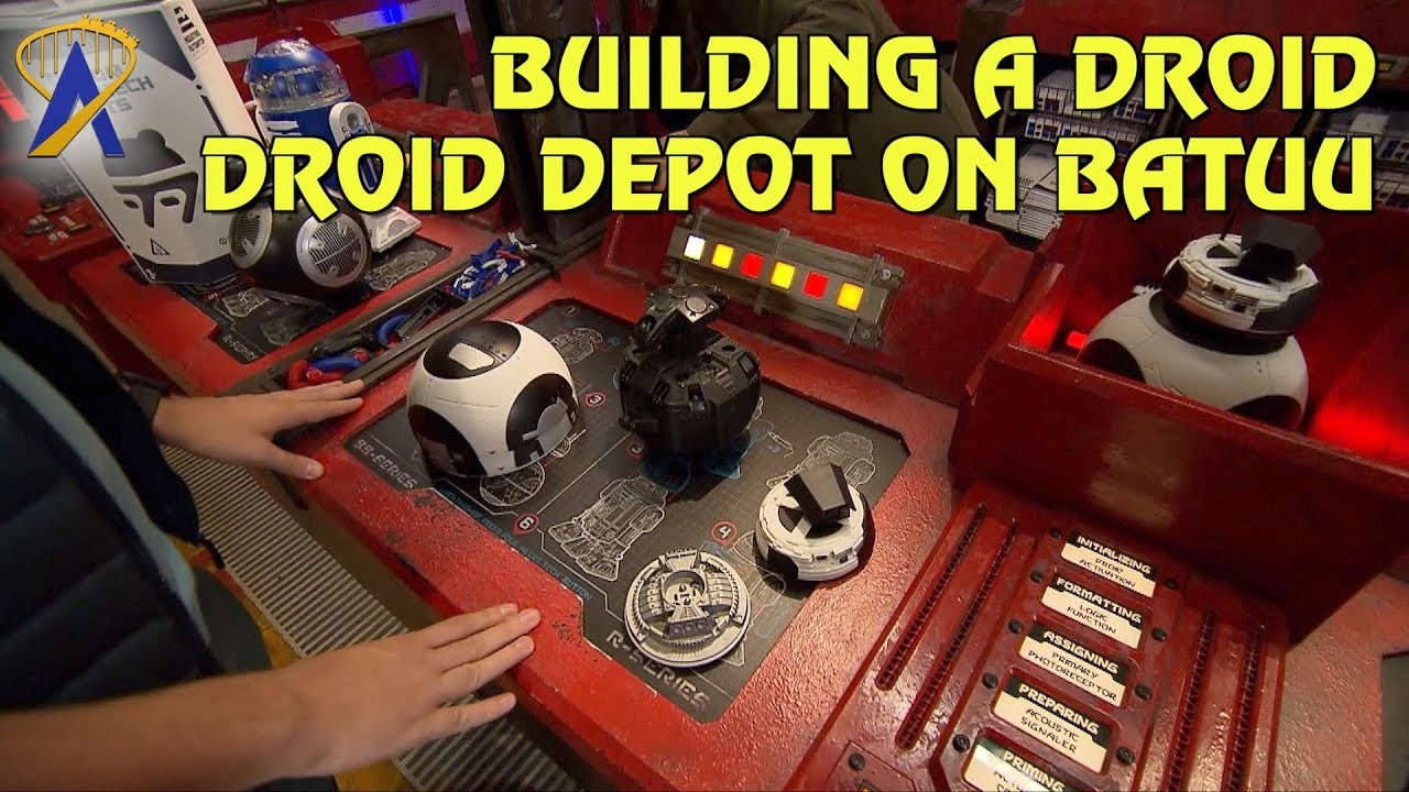Building a droid inside the Droid Depot at Star Wars: Galaxy's Edge