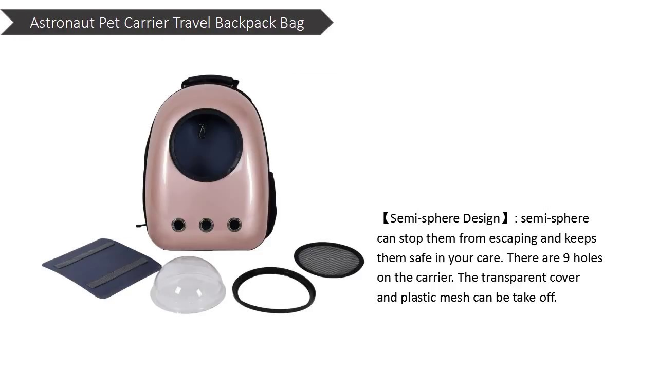1d8a1619a2c Costway Astronaut Pet Cat Dog Puppy Carrier Travel Bag Space Capsule  Backpack Breathable