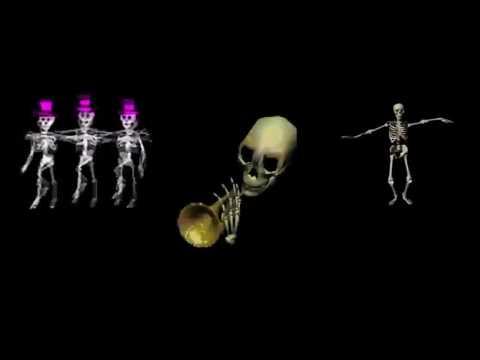 Прикольный скелет...