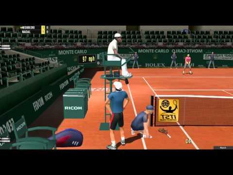 Tennis Elbow '13 game (Nishikori vs Nadal)  
