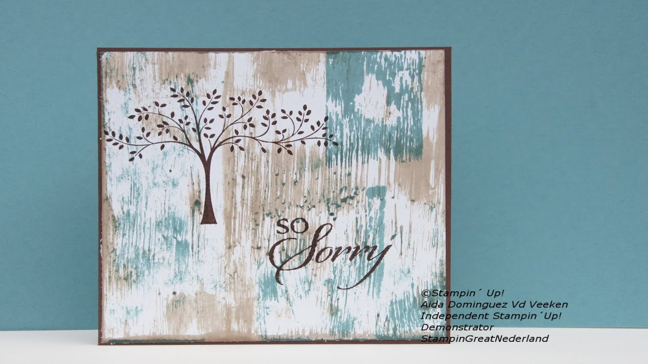 Sympathy Card StampinUp YouTube