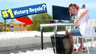 Fortnite Battle Royale... ON MY ROOF!