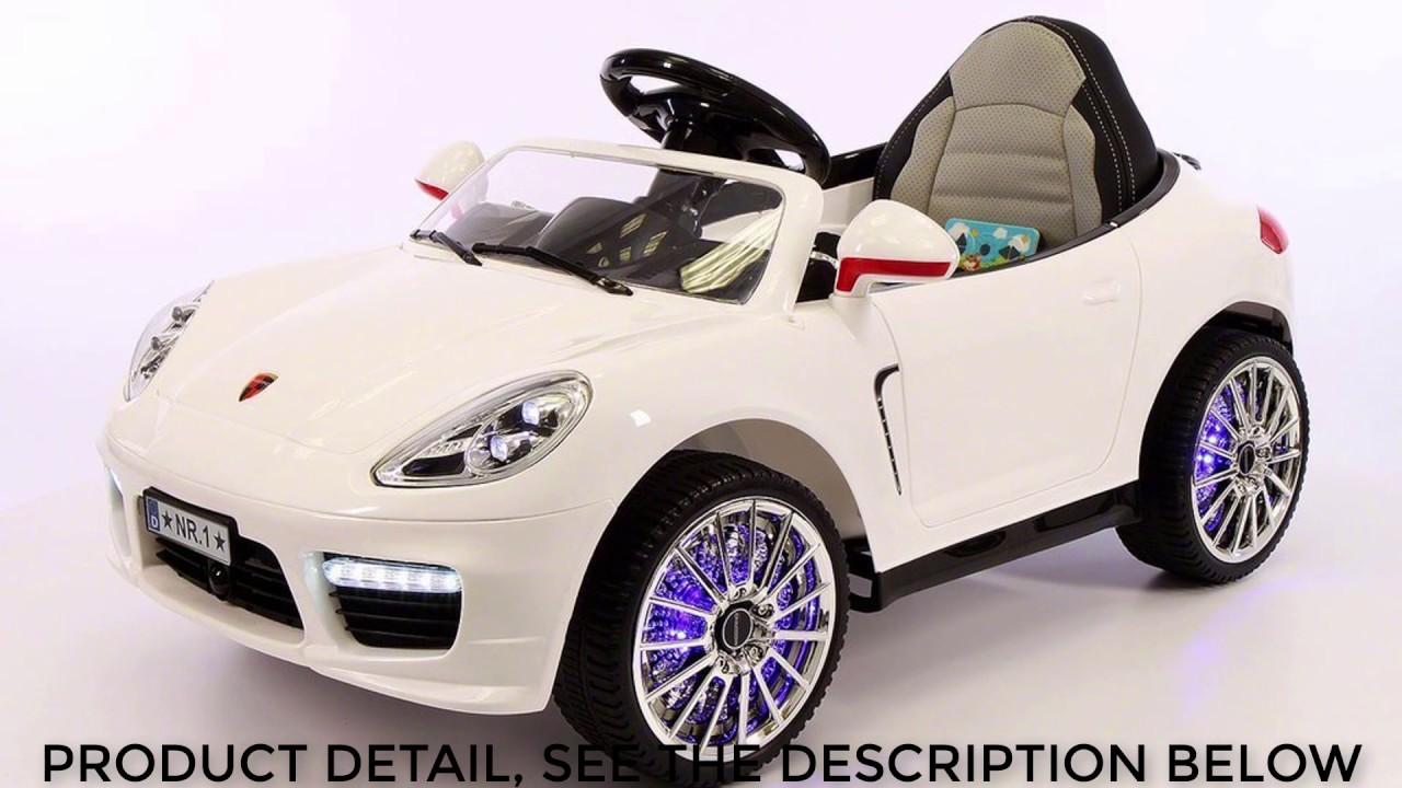 2017 Porsche Boxster Style 12v Ride On Car Remote Control Leather Seat Dining Dashboard