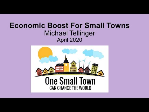 Economic Boost For Small Towns - One Small Town - Can Change The World - Michael Tellinger from YouTube · Duration:  1 hour 21 minutes 50 seconds