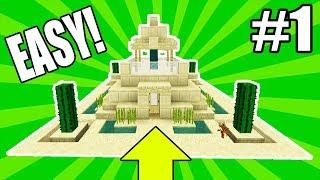 Minecraft Tutorial: How To Make A Desert Starter House #1