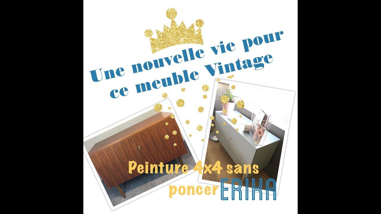 je relooke ce meuble vintage sans poncer avec la 4x4. Black Bedroom Furniture Sets. Home Design Ideas