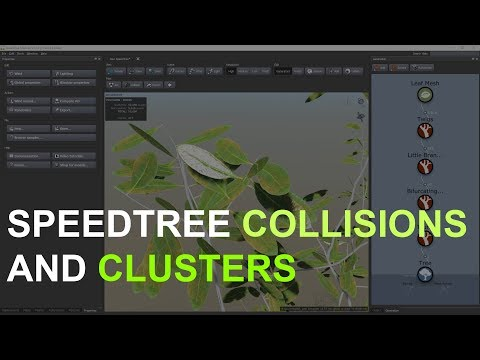SpeedTree Cinema 8  Collisions and Clusters  Anchor Points