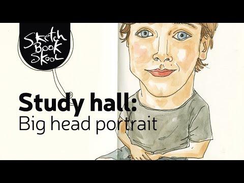 Study Hall: Big head Portrait