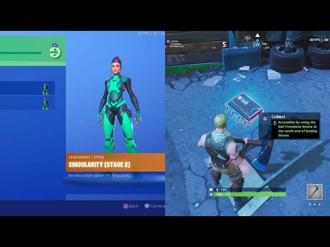 NEW Singularity Skin Challenges - All Fortbyte Location Challenges - Fortnite Battle Royale