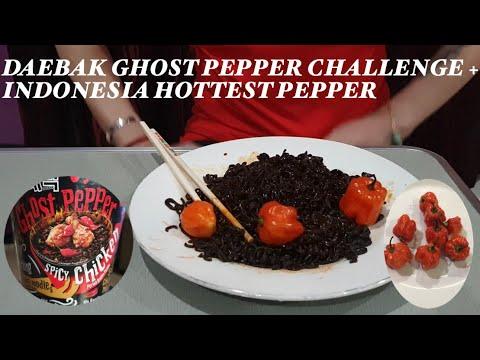 DAEBAK GHOST PEPPER CHALLENGE+INDONESIA'S HOTTEST PEPPER
