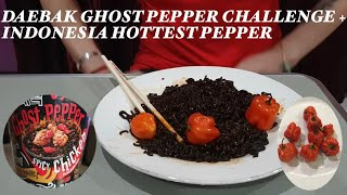 DAEBAK GHOST PEPPER CHALLENGE+INDONESIA'S HOTTEST PEPPER