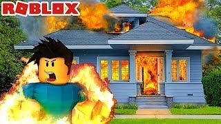 MA MAISON EST EN FEU ?! | Roblox Fire Simulator