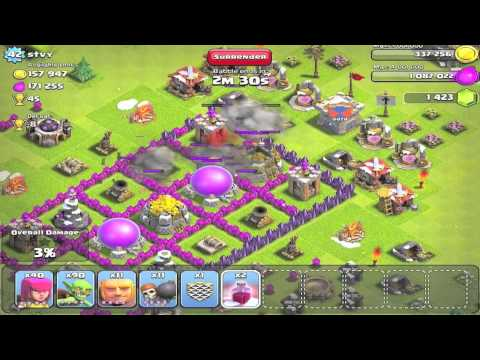 Clash of Clans - HOW TO FARM WITH 3 SANTA SPELLS