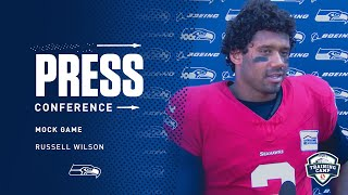 Seahawks Quarterback Russell Wilson Mock Game Press Conference