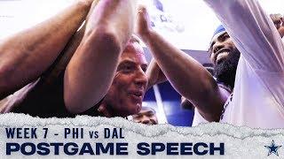 Head Coach Jason Garrett Postgame Locker Room Speech Week 7 Victory   Dallas Cowboys 2019