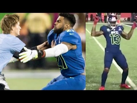 Odell Beckham Jr Dances to Juju On That Beat, Ezekiel Elliot TACKLES and Races Fan at 2017 Pro Bowl