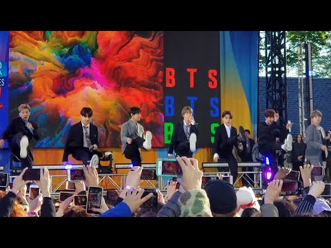 190515 Boy With Luv Soundcheck Rehearsal  BTS 방탄소년단 Good Morning America GMA Summer Concert NYC