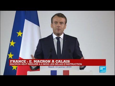 REPLAY - Discours d''Emmanuel Macron à Calais