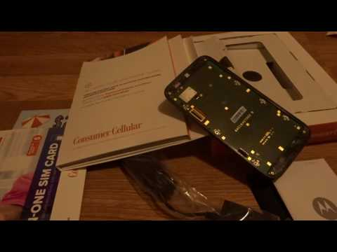 Moto G 3rd Gen Consumer Cellular Unboxing and Setup