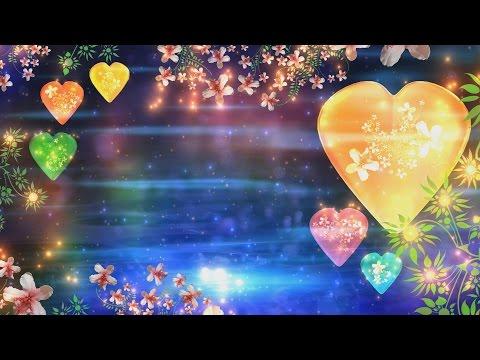 4K Heart & Flowers Traditional Hindu Colorful Florish Love HD Background Animation