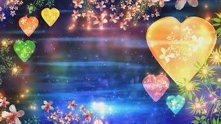 4K Corazón y Flores Hindú Tradicional Colorido Florecer el Amor HD de Animación de Fondo