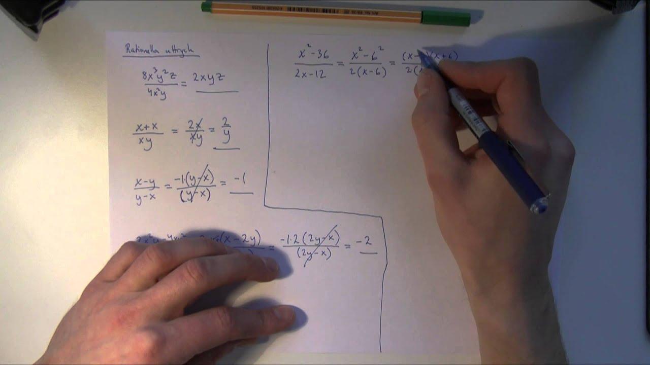 Matematik 3c - Uppgifter och lösningar till absolutbelopp, rationella uttryck, gränsvärden m.m.