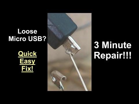 Fix Loose Micro Mini USB - 3 Minute Repair - DIY