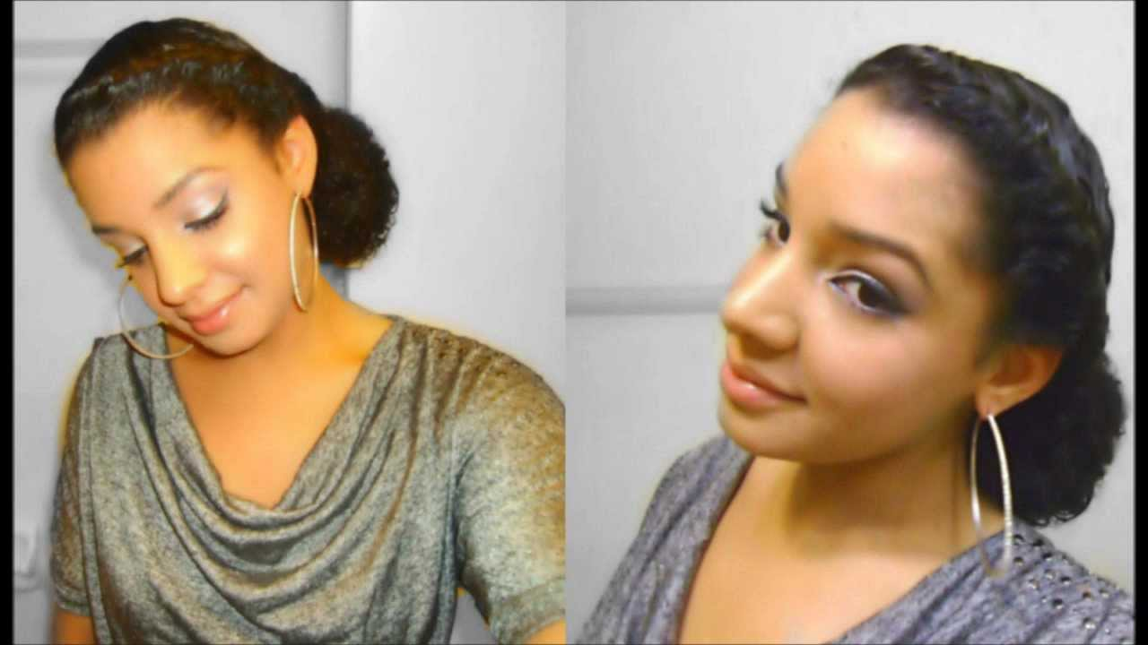 How To Quick Easy Twist Side Bun Hairstyle : Natural Curly