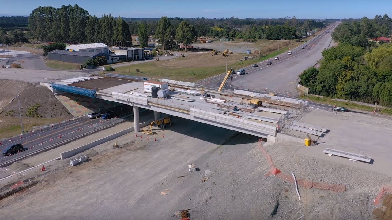 Christchurch Southern Motorway – Stage 2, February 2019 drone footage