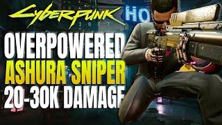 Cyberpunk 2077 - BEST SNIPER RIFLE, ASHURA  How to Unlock &amp Build Tips
