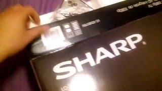 """Sharp 32"""" 1080p HDTV unboxing (Best buy)"""