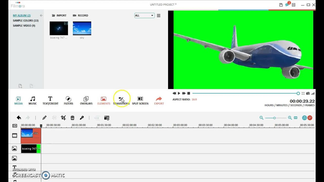 how to use the green screen effect in filmora youtube