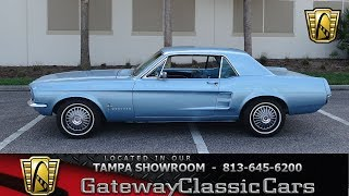 1093-TPA 1967 Ford Mustang 289 CID V8 3 Speed Automatic