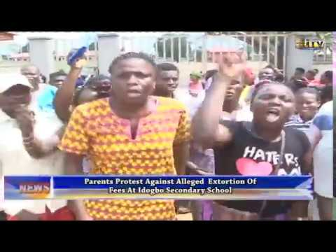 Parents protest against alleged extortion of fees at Idogbo Sec. Sch.