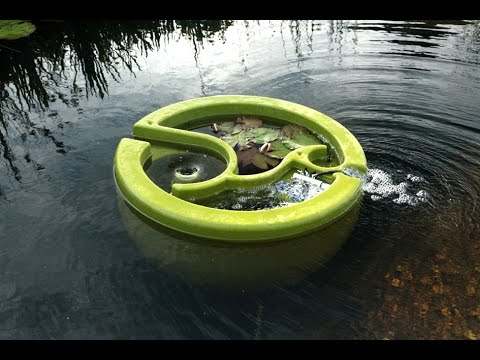 World S First Floating Natural Pool Filter Olive