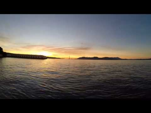Real time sunset from Fort Mason in San Francisco, shot in 4k