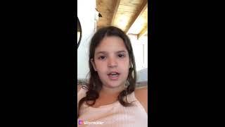 Cute girl singing despacito
