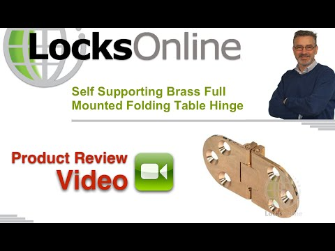 Flush Mounted Self Supporting Folding Table Flap Hinge   LocksOnline Product Review
