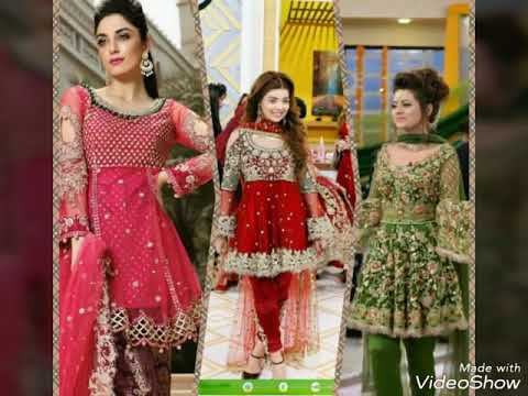 674340a726 LATEST PAKISTANI SHORT FROCK AND PEPLUM DRESSES 2017 - YouTube