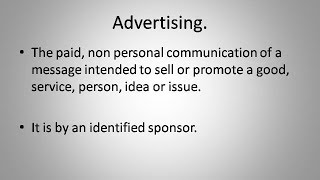 what is advertising ?